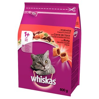 Whiskas Complete Cat Food Delicious Pasty with Beef 1+ Year 800 g