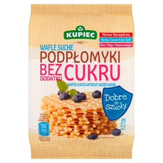 Kupiec Wafer Leaves without Added Sugar 72 g (8 Pieces)