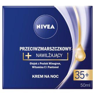 NIVEA Przeciwzmarszczkowy + nawilżający krem na noc 35+ 50 ml