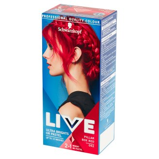 Schwarzkopf Live Ultra Brights or Pastel Hair Colorant Pillar Box Red 092