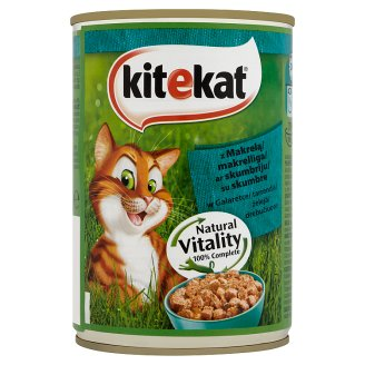 Kitekat Complete Food for Adult Cats with Mackerel in Jelly 400 g