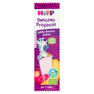 HiPP BIO Owocowy Przyjaciel Apple-Banana-Raspberries Fruit Bar for Children after 1 Year Onward 23 g