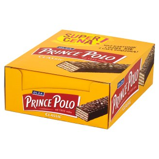 Olza Prince Polo Classic Wafers with Cocoa Cream Topped with Chocolate 28 x 18 g