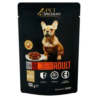 Tesco Pet Specialist Premium Food for Adult Dogs with Turkey and Venison in Gravy 100 g