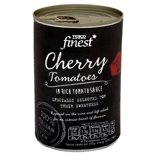 Tesco Finest Cherry Tomatoes in Rich Tomato Sauce 400 g