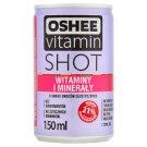 Oshee Vitamin Shot Witaminy i minerały Niegazowany napój o owoców egzotycznych 150 ml