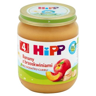 HiPP BIO Bananas with Peaches after 4. Months Onwards 125 g