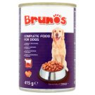 Brunos Chunks with Beef in Gravy Complete Pet Food for Adult Dogs 415 g