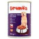 Brunos Pełnoporcjowa karma dla dorosłych psów kawałki z wołowiną w sosie 415 g