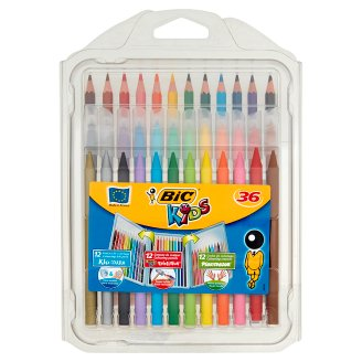BiC Kids Zestaw kredek i flamastrów 36 sztuk