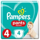Pampers Pants Size 4, 4 Nappies, 9-15kg, Absorbing Channels