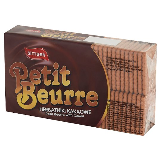 Simsek Cocoa Petit Beurre Biscuits 300 g