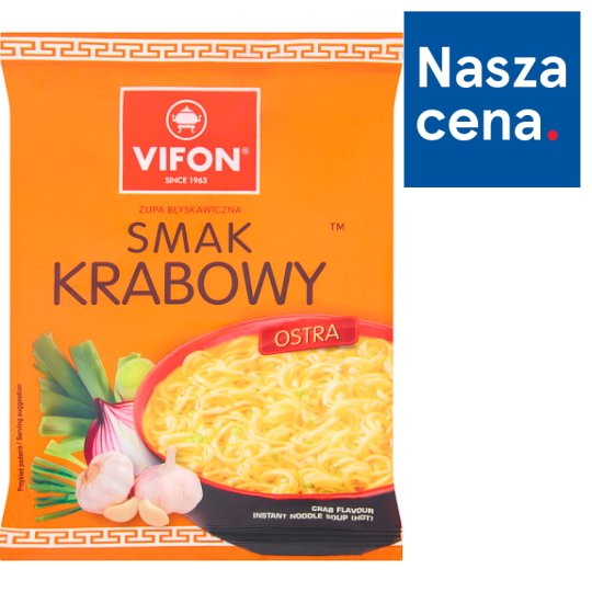 Vifon Smak krabowy Zupa błyskawiczna 70 g