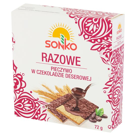 Sonko Wholemeal Bread with Dessert Chocolate 72 g