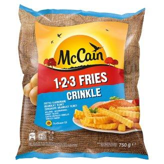 McCain 1.2.3 Fries Crinkle Frytki karbowane 750 g
