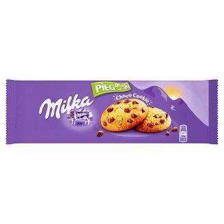 Milka Pieguski Choco Cookie Ciasteczka z kawałkami czekolady mlecznej z mleka alpejskiego 135 g