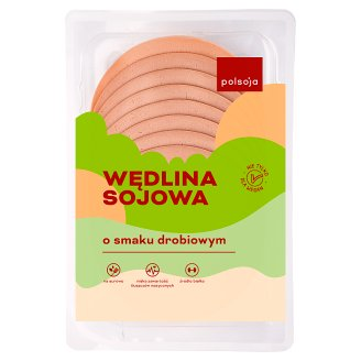 Polsoja Poultry Flavour with Green Olives Soy Sausage 100 g