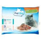 PreVital Naturel Pełnoporcjowa karma dla dorosłych kotów w galaretce 4 x 85 g