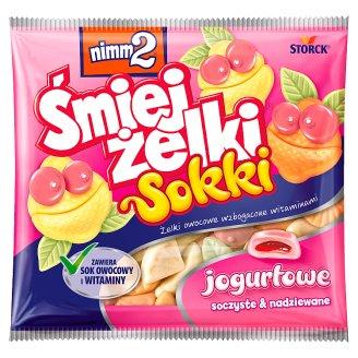 nimm2 Śmiejżelki Sokki jogurtowe Żelki owocowe wzbogacone witaminami 90 g