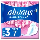 Always Sensitive Night Ultra (Size 3) Sanitary Towels  Wings 7 Pads