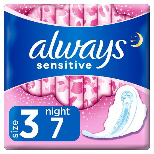 Always Ultra Sensitive Night (rozmiar 3) Podpaski ze skrzydełkami, 7