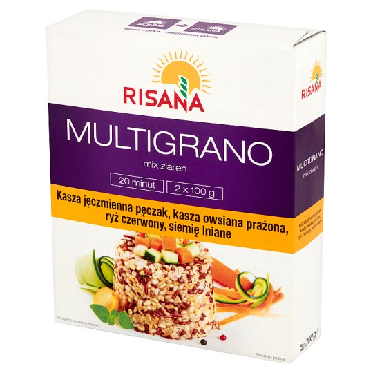 Risana Grains Mix with Linseed 200 g (2 Bags)