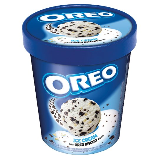Oreo Cream Flavor Flavoured Dairy Ice Cream with Oreo Biscuit Pieces 480 ml