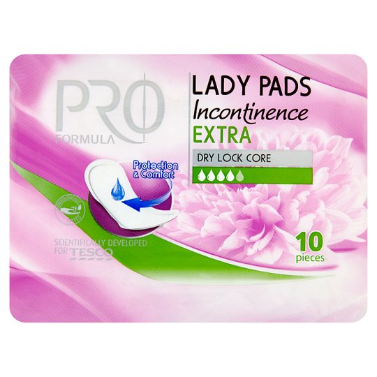Tesco Pro Formula Extra Lady Incontinence Pads 10 Pieces
