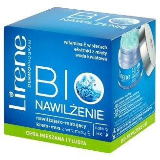 Lirene Bio Nawilżenie Nawilżająco-matujący krem-mus z witaminą E na dzień i na noc 50 ml