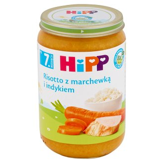 HiPP BIO Risotto with Carrot and Turkey after 7. Months Onwards 220 g