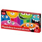 Mona Plastelina kwadratowa 12 kolorów