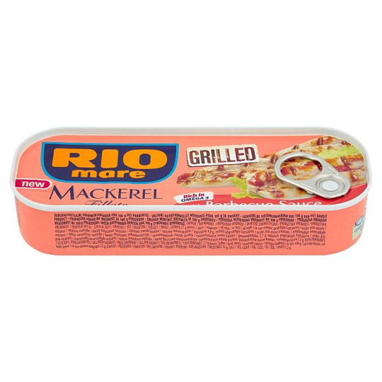 Rio Mare Grilled Mackerel Fillets with Barbecue Sauce 120 g