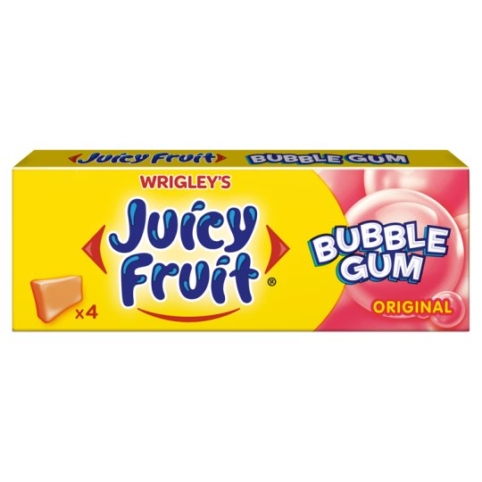 Juicy Fruit Bubble Gum Chewing Gum Original 13.8 g (4 Pieces)