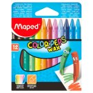 Maped Color'peps Wax Crayons 12 Pieces