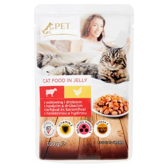 Tesco Pet Specialist Beef and Poultry in Jelly Food for Adult Cats 100 g