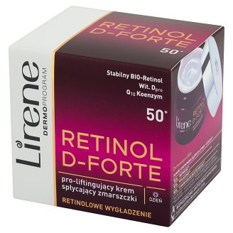 Lirene Retinol D-Forte 50+ Pro-liftingujący krem spłycający zmarszczki na dzień 50 ml