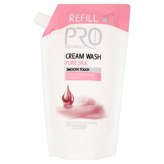 Tesco Pro Formula Pure Silk Cream Wash Refill 500 ml