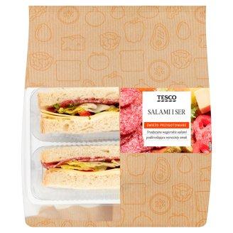 Tesco Salami and Cheese Sandwich 137 g