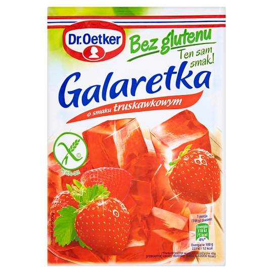 Dr. Oetker Strawberry Flavoured Gluten Free Jelly 77 g