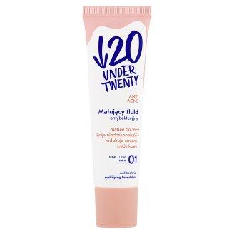 Under Twenty Anti Acne Antibacterial Mattifying Foundation 01 Light 30 ml