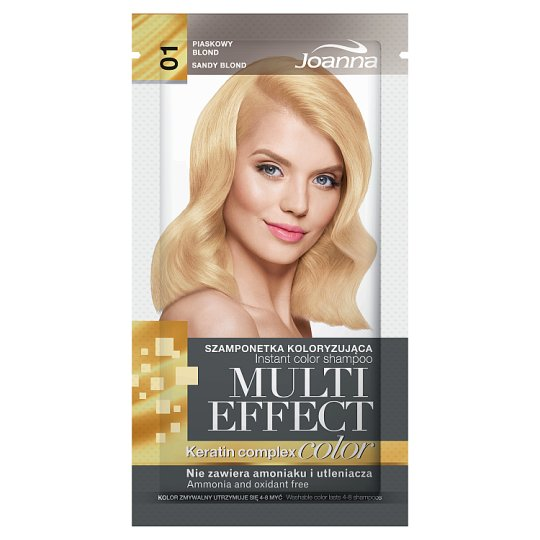 Joanna Multi Effect color Szamponetka koloryzująca piaskowy blond 01 35 g