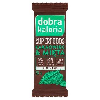 Dobra Kaloria Superfoods Baton owocowy kakaowiec & mięta 35 g
