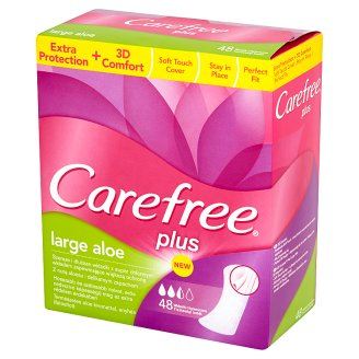 Carefree Plus Large Aloe Pantyliners 48 Pieces