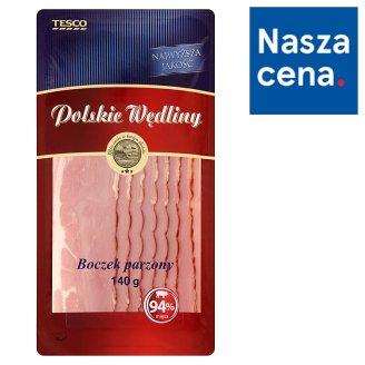 Tesco Polskie Wędliny Boczek parzony 140 g