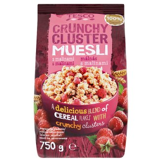 Tesco Crunchy Cluster Muesli with Raspberry Pieces 750 g