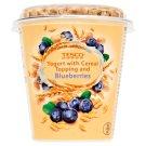 Tesco Jogurt naturalny z płatkami owsianymi i suszonymi jagodami 145 g