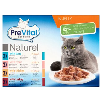 PreVital Naturel Complete Food for Adult Cats in Jelly 12 x 85 g