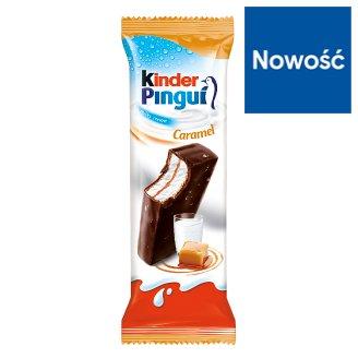 Kinder Pingui Caramel Biszkopt z mlecznym nadzieniem i karmelem pokryty czekoladą deserową 30 g
