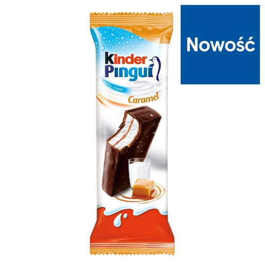 Kinder Pingui Caramel Sponge Cake Filled with Milk and Caramel Covered with Chocolate 30 g
