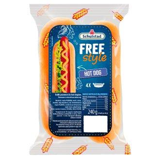 Schulstad Free Style Bułki pszenne do hot dogów 240 g (4 sztuki)